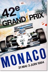 Poster Art – MONACO GRAND PRIX 1984