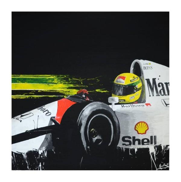 Classic #F1 Artist - Senna Painting by Tom Havlasek