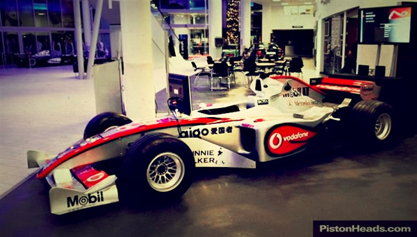 found for sale - full size 2008 mclaren f1 simulator - retro race cars